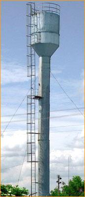 Устранение течи бака водонапорной башни